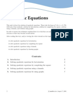 Solve Quad Form