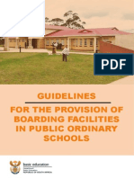 Guidelines for Boarding Facilities and the Management of Hostels