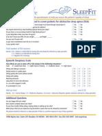 SF SleepQualityQuestionnaire