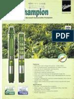 Irrigation Pump Data Sheet
