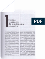 Función y alcances de la psicología educativa