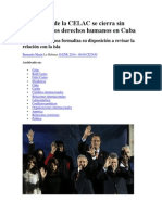 La Cumbre de La CELAC Se Cierra Sin Cuestionar Los Derechos Humanos en Cuba