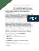 Documentos digitalizados referente  Andragogía-pedagogiía
