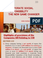 CSR - A Panoramic View -Dr Bhasker Chatterji