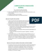 REFORMA CURRICULAR DE LA EDUCACIÓN NORMAL
