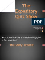 Expository Quiz Show