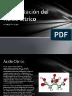 Fermentación del Ácido Cítrico