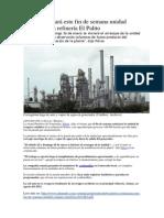 Pdvsa reiniciará este fin de semana unidad craqueo en la refinería El Palito