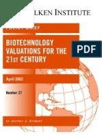 Risk-Adjusted Net Present Value Milken Institute 2002