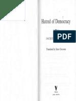 Rancière - Hatred of Democracy ('07)