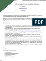 Job Hunting Guide of Analog_Mixed Signal IC Design