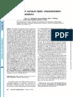 Human Stratum Corneum Lipids Characterization and Regional Variation