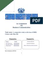 A study on DBBL loan