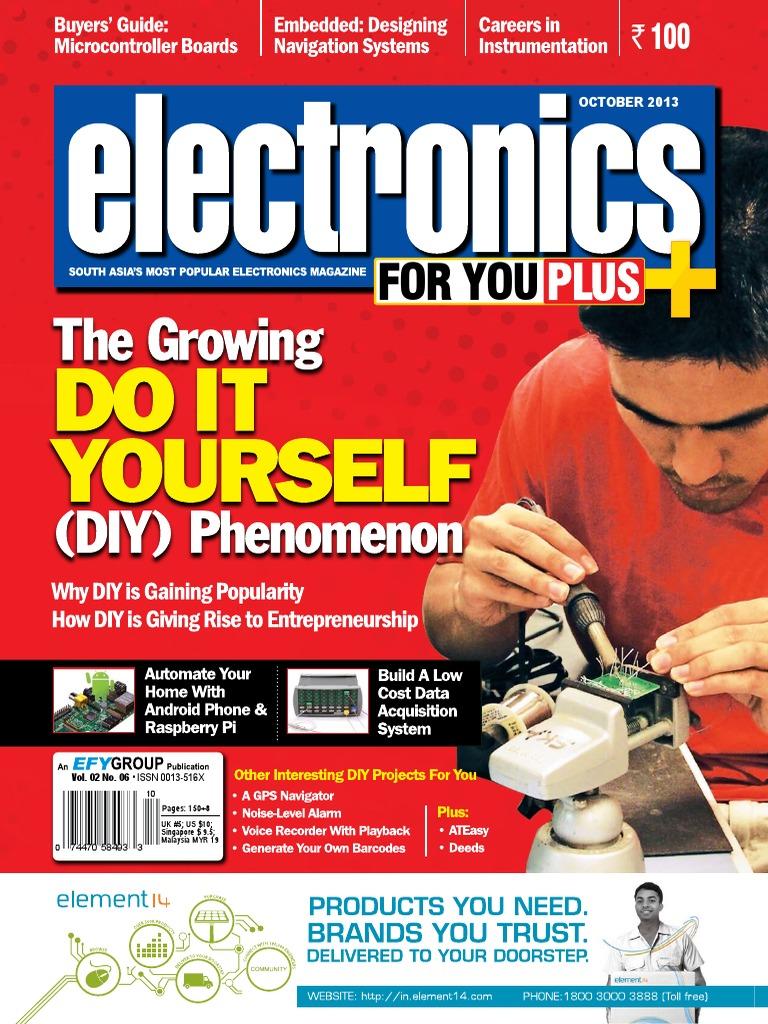 Electronics For You 201310 Tablet Computer Laptop Light Sensor Circuit D Mohankumar Ca3140 Photodiode