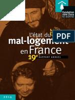 Rapport 2014 sur le mal logement en France