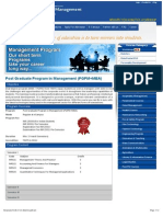 Post Graduation Program in Management(PGPM+MBA)