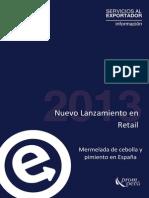 Mermelada de cebolla y pimiento en España 2013