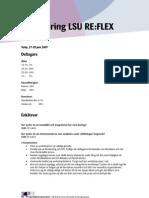 Utvärdering LSU REFLEX