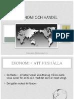 internationell ekonomi och handel