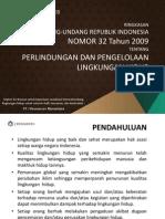 UU No 32 Tahun 2009 - Perlindungan & Pengelolaan Lingkungan Hidup