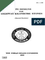 IRC  8 1980 Tye Design for Highway Kilometer Stoness