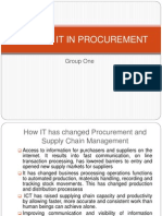 Group One - Role of IT in Procurement