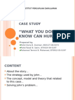 "A case study""what you don't know can hurt you!"" for teacher"