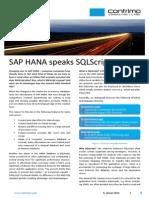 Sap Hana Speaks Sqlscript en 2014-01-08