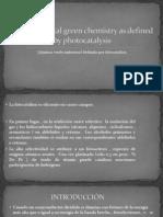 Fotocatálisis selectiva de oxidación leve en químicos puros