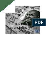 FDI in Inida