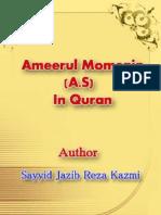 Ameerul Momenin a s in Quran