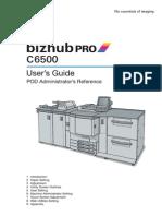 Bizhub C6500 AdminRefUserGuide