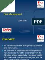 Risk Management Lecture - John Watt