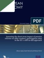 .Impact van pensioenhervormingen op de participatiegraad van oudere werknemers in de EU