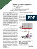 Power Quality Parameters Measurement Techniques