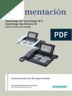 OpenStage 40 HFA xHiPath 4000x Instrucciones de Manejox Edicion 13