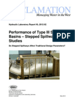 Performance of Type III Stilling Basins - Stepped Spillway Studies