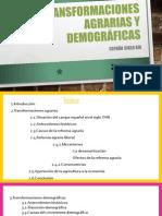 Las transformaciones agrarias y demográficas