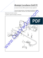 Manual Montaje Lavafaros Golf IV