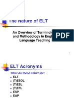 The Nature of ELT