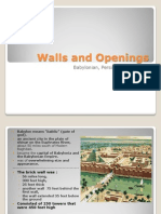 Walls and Openings