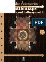 0One Games Battlemaps Corridors and Hallways Vol I