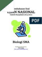 Pembahasan Soal UN Biologi SMA 2013