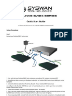 Syswan Duolinks SW24 Series Dual WAN Router Quick Installation Guide