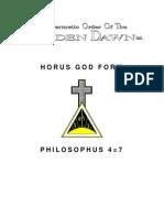GOLDEN DAWN 4=7 Horus God Form