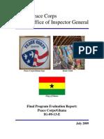 Peace Corps Ghana Final Program Evaluation Report IG0913E