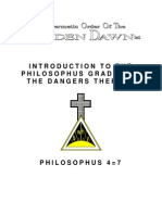 GOLDEN DAWN 4=7 Introduction to the Philosophus Grade and the Dangers Thereof