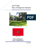 Peace Corps Morocco Final Audit Report IG0910A 2009