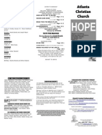 January 19, 2014 Trifold Bulletin
