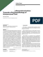 Melancholia Desinchronization Psychopatology